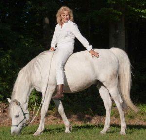 Ingrid Merkle auf Pferd Radjib el Arab