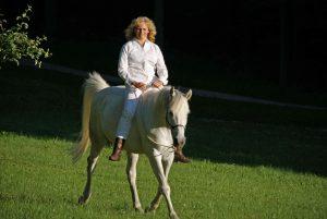 Ingrid Merkle und ihr Pferd Radjib el Arab