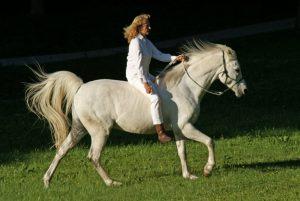 Ingrid Merkle und ihr Pferd
